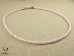 Rose Quartz // Kette // Perlen im Schlauch