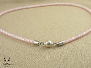 Rose Quartz // Kettenverschluss // Perlen im Schlauch
