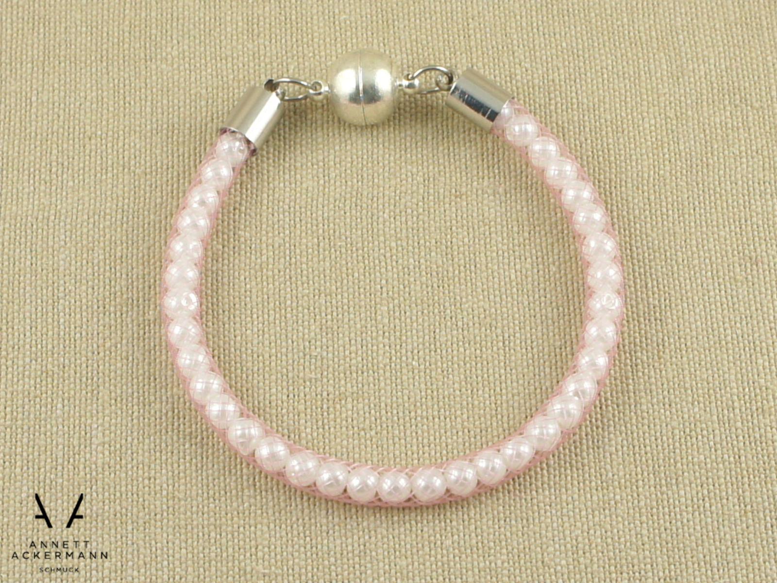 Rose Quartz // Armband // Perlen im Schlauch