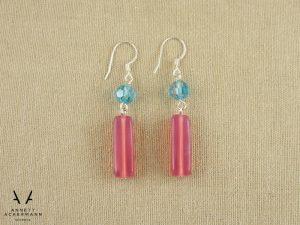 Ohrringe in rosa & hellblau