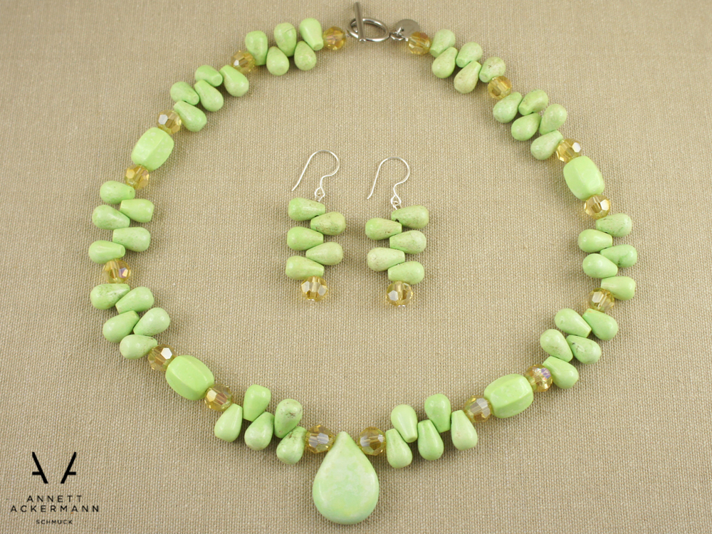 Greenery // Howlite Drop // Set