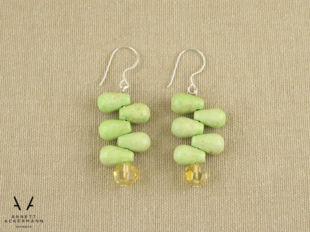 Greenery // Howlite Drop // Ohrringe